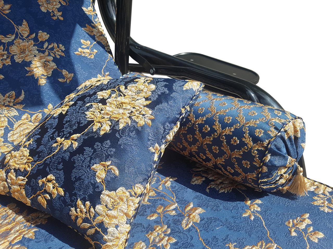 rud exhaust system Качеля садовая Spring-Swing Barokko Blue-Gold (БЕСПЛАТНАЯ ДОСТАВКА ПО УКРАИНЕ) 700110