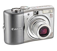 Фотоаппарат Canon PowerShot A1100 IS Silver (витрина)/ 12,1 Mp / LCD 2,5' / Zoom 4x / оптический стабилизатор / SD, SDHC, MMCPlus, HC MMCPlus / 2 x AA