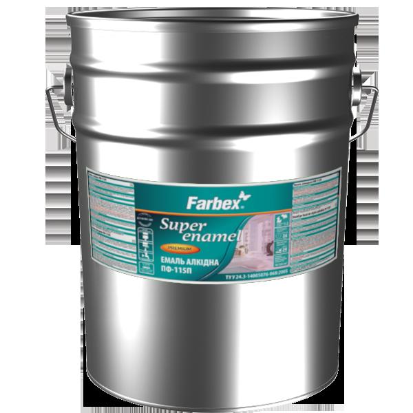 Емаль алкідна Farbex ПФ-115П, темно-сіра 25 кг