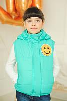 Детская куртка- жилет трансформер  весна-осень 128см до 146см, фото 1