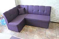Мягкая кухонная мебель фиолетового цвета