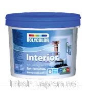 Краска водно-дисперсионная интеръерная латексная POLYCOLOR Interior 7 кг