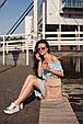 """Кожаный женский рюкзак """"Олсен"""" Крем-брюле, фото 2"""