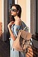 """Кожаный женский рюкзак """"Олсен"""" Крем-брюле, фото 3"""