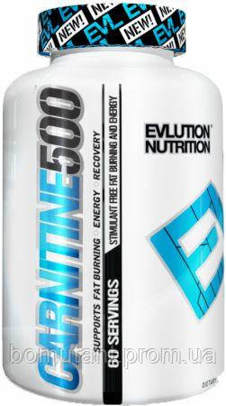 Carnitine 500 60 капсул EVLUTION Nutrition