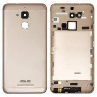 """Задняя крышка батареи для мобильного телефона Asus Zenfone 3 Max (ZC520TL) 5,2"""", золотистая"""
