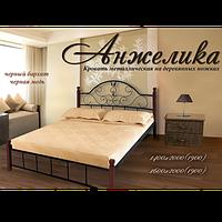 """Металлическая кровать с деревянными ножками """"Анжелика"""""""