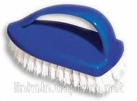 Щетка для рук Утюг миди 11*7,5*4,5 см синяя ПП