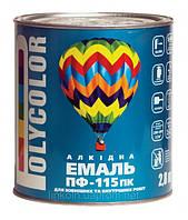 Эмаль Polycolor ПФ-115 2,8 кг темно-зеленая