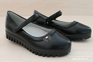 Черные туфли для девочки тракторная подошва тм Tom.m р. 27,28,29, фото 2