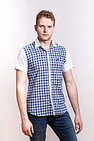 Летняя распродажа! Мужская рубашка в мелкую клетку, рр M-2XL.