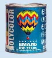 Эмаль ПФ-115 Красная 0,9 кг Поликолор BELLINI