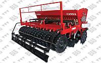 Комбинированная стерневая сеялка прямого высева для зерновых  культур No-till Cansa MC-3000-18, фото 1
