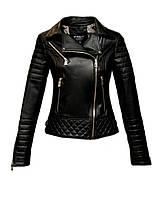 Куртка кожаная Kurban косуха черная