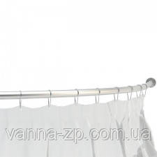 Полукруглый карниз для шторы в ванну 120х120 см белый