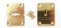 Декоративные накладки под сувальдный ключ Cisa 06081(82) латунь (Италия)