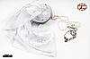 Белый маленький  платок свадебный Ангел, фото 3