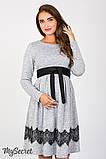 Плаття для вагітних та годуючих Medina DR-47.152, сірий меланж розмір 50, фото 2