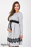 Плаття для вагітних та годуючих Medina DR-47.152, сірий меланж розмір 50, фото 4