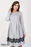 Плаття для вагітних та годуючих Medina DR-47.152, сірий меланж розмір 50, фото 6