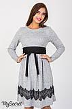 Плаття для вагітних та годуючих Medina DR-47.152, сірий меланж розмір 50, фото 7