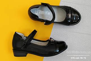 Черные туфли с лаковым носком для девочки Tom.m р.28, фото 3