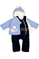 Комплект велюровый на синтепоне: куртка и полукомбинезон