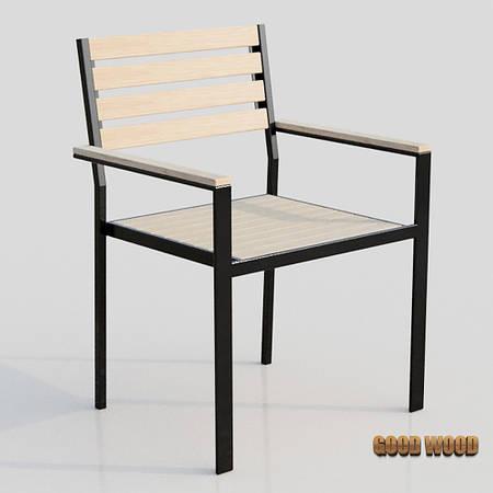 Кресло Кл-1 (черное или белое) из дерева и металла