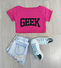 Укороченная футболка-топ GEEK