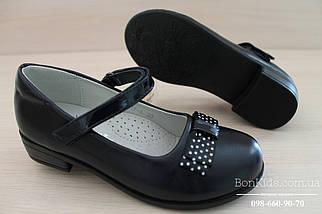 Туфли на девочку с бантиком в белый горох тм Tom.m р.29,30,31,32, фото 3