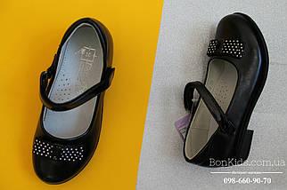 Туфли на девочку с бантиком в белый горох тм Tom.m р.29,30,31,32, фото 2