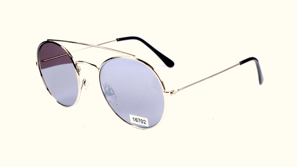 0bf88897b32e Солнцезащитные очки в металлической оправе, круглые, Toxic, цена 264 ...