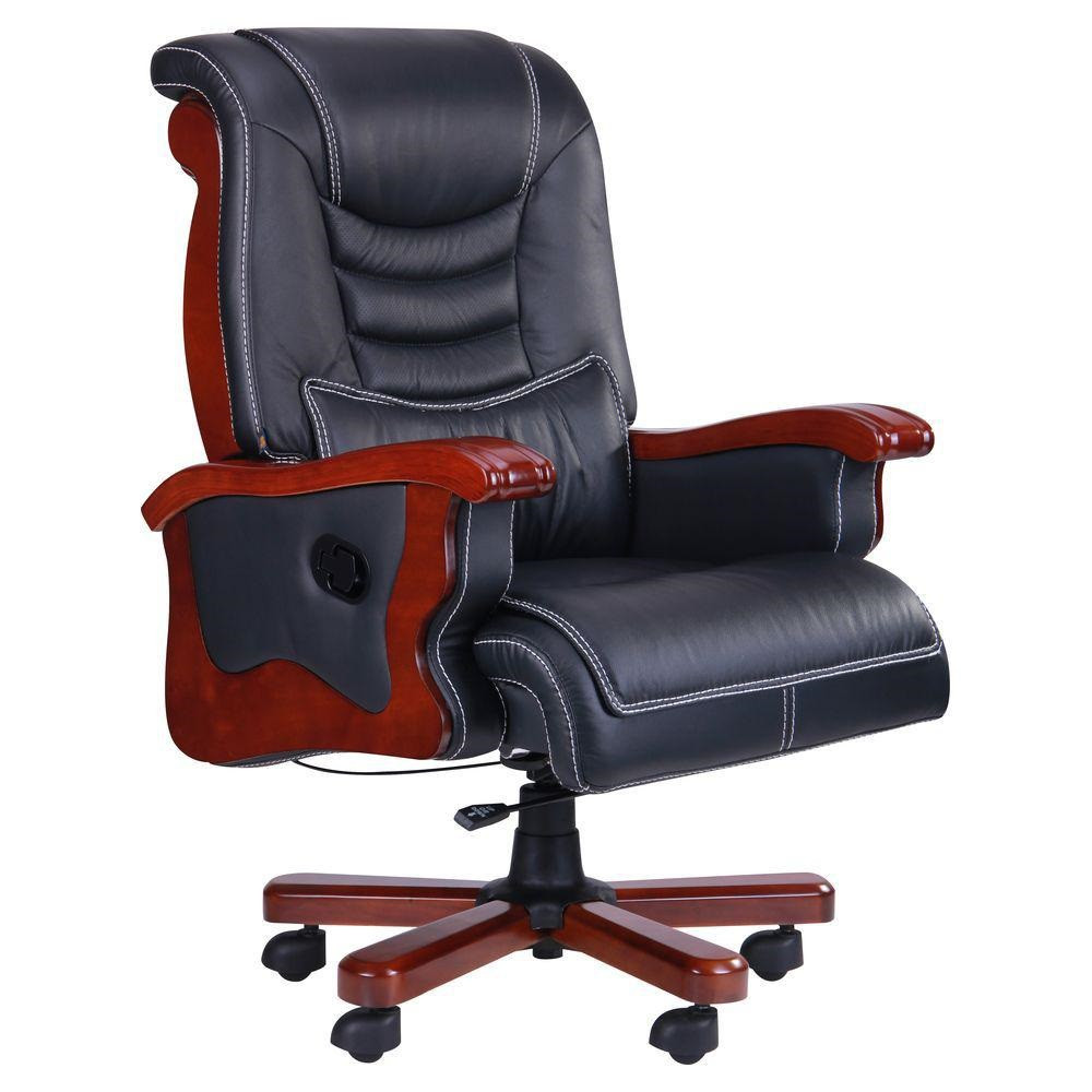 Кресло Монреаль Кожа Черная (675-B+PVC) (AMF-ТМ)