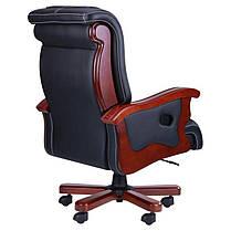Кресло Монреаль Кожа Черная (675-B+PVC) (AMF-ТМ), фото 3