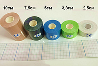 Кинезио тейп ( Kinesio Tape ) 5 см х 5 м, 7.5см х 5м, 10см х 5м телесный 7.5см х 5м