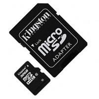 Карта памяти microSDHC 32GB Kingston Class10 + SD адаптер
