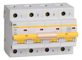 Выключатель автоматический ВА47-100 4Р 10 А 10кА х-ка С IEK