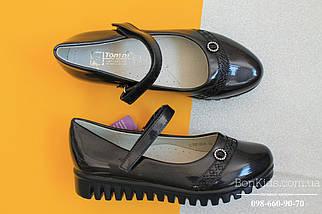 Синие лаковые туфли для девочки рефленая подошва Tom.m р. 27,28,31, фото 3