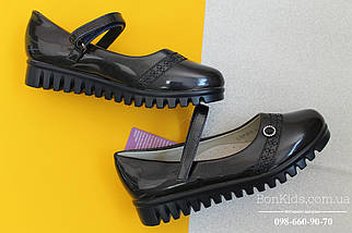 Синие лаковые туфли для девочки рефленая подошва Tom.m р. 27,28,31, фото 2