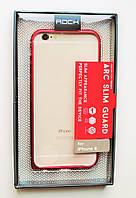 Чехол Бампер на Айфон 6/6s ROCK стильный Металл Красный, фото 1
