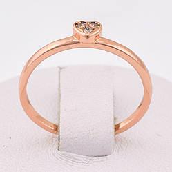Кольцо 12565  размер 16, позолота РО