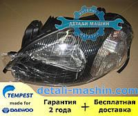 Фара электрическая левая (хромированный отражатель) Ланос (TEMPEST) DAEWOO Lanos 020 0139 R3C