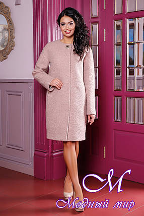 Женское осеннее пальто большого размера (р. 44-62) арт. 1018 Тон 50, фото 2