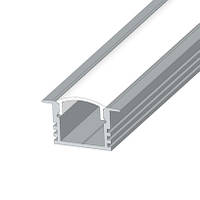 Алюминиевый профиль врезной углубленный ЛПВ-12 (рассеиватель матовый или прозрачный)