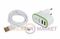 Зарядное устройство Belkin (2xUSB 5V 2.1A) + кабель USB/Lightning для мобильного телефона