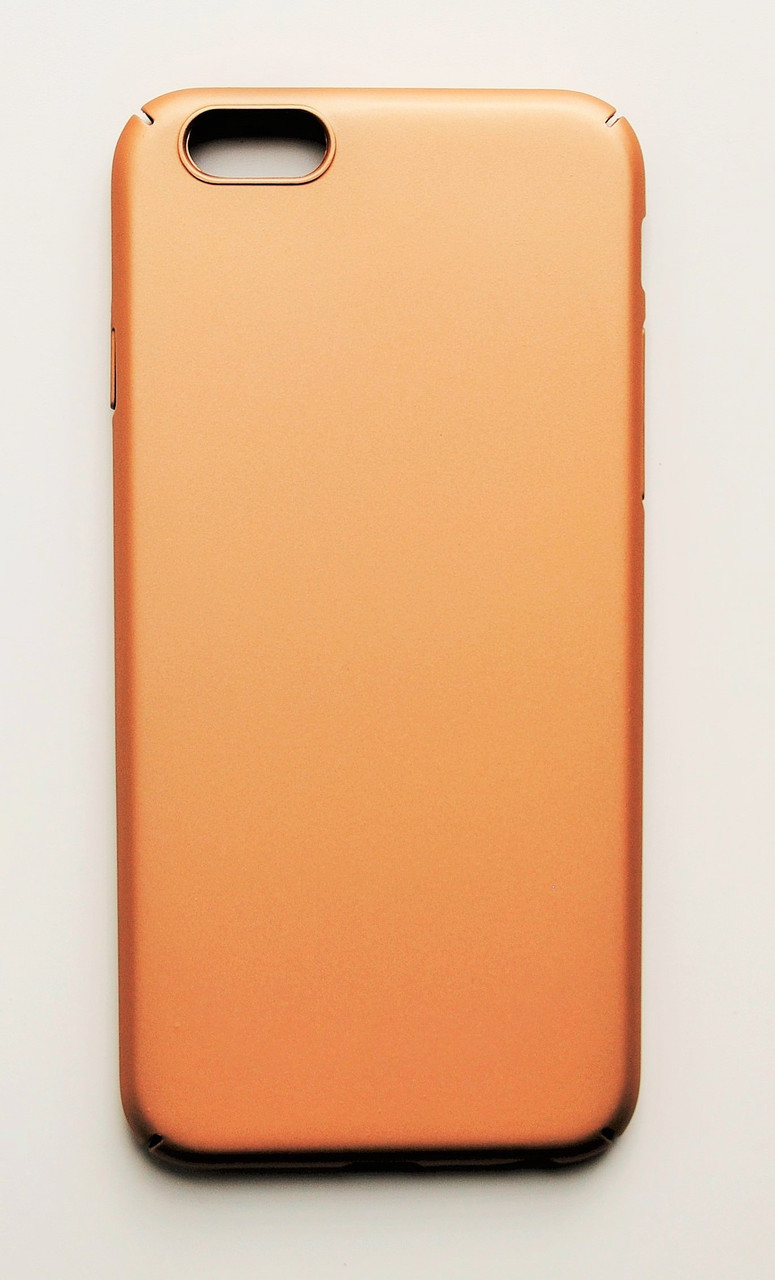 Чехол на Айфон 6/6s PC Soft Touch матовый Пластик Золото