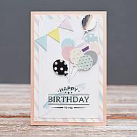 Открытка Happy Birthday ручной работы