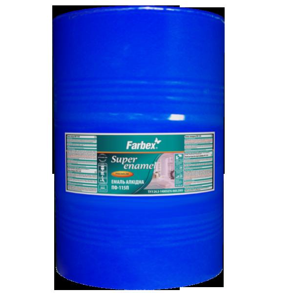 Эмаль алкидная Farbex ПФ-115П, оранжевая 50 кг