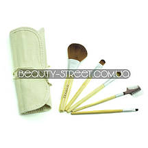 Набор кистей ECOTOOLS  для макияжа в чехле 5 штук (Уценка)