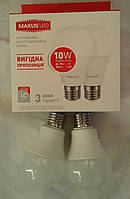 Светодиодная лампа Maxus LED-562 Е27 10 4100К (2 штуки в упаковке )